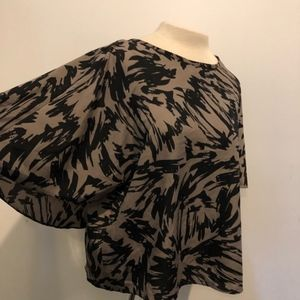 VINCE CAMUTO FLOWY TUNIC BOHO BLOUSE SIZE S